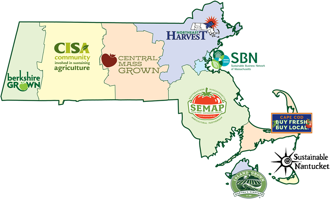 Massachusetts Coalition for Local Food and Farms Map